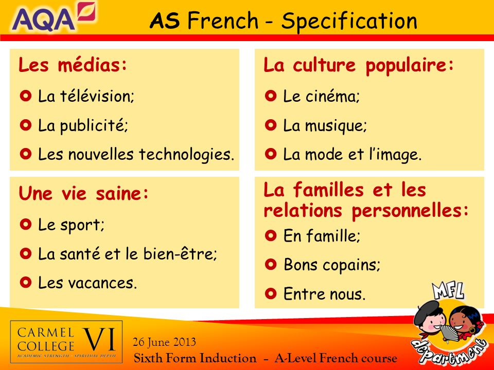 AS French - Specification