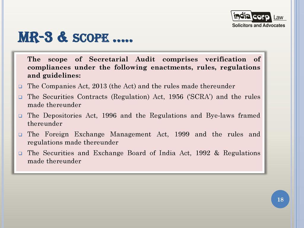 Secretarial audit presentation by a k kuchhal managing partner 18 mr 3 platinumwayz