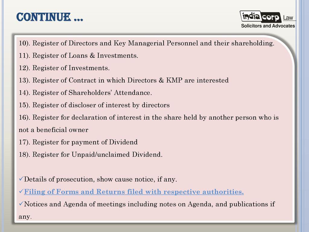 Secretarial audit presentation by a k kuchhal managing partner 29 continue platinumwayz