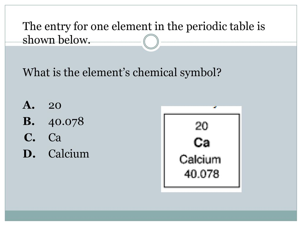 Matter quest study game ppt video online download the entry for one element in the periodic table is shown below biocorpaavc
