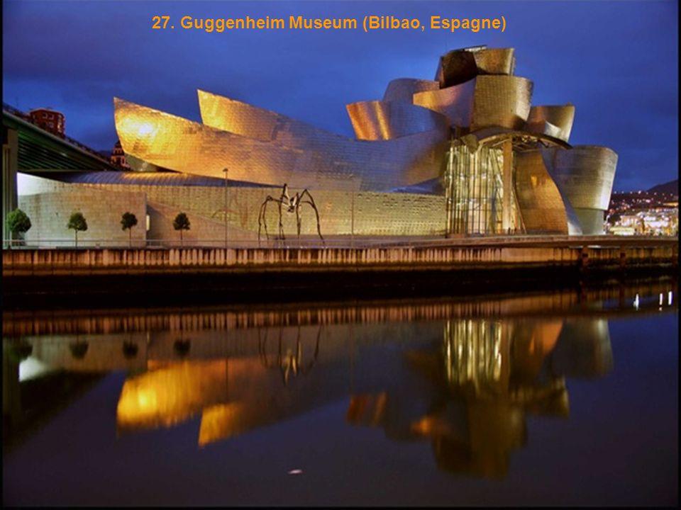 27. Guggenheim Museum (Bilbao, Espagne)