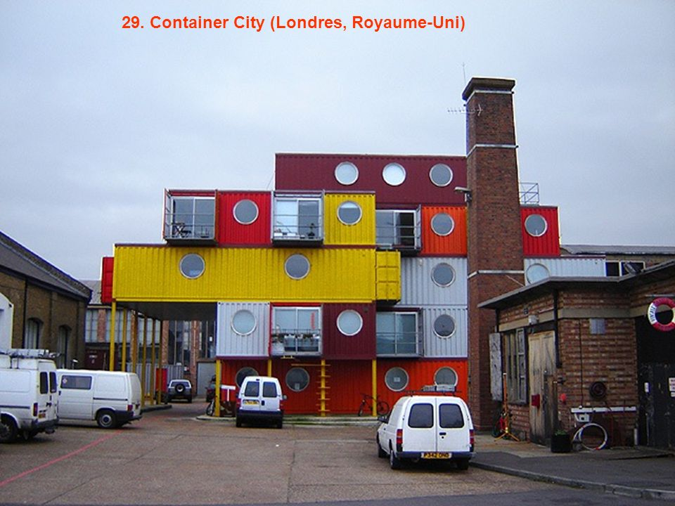 29. Container City (Londres, Royaume-Uni)
