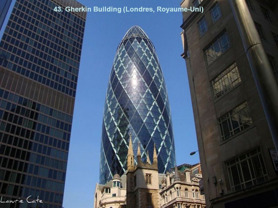 43. Gherkin Building (Londres, Royaume-Uni)