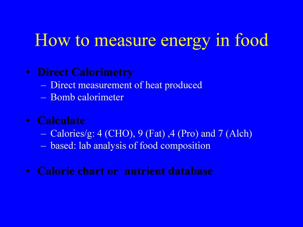 measuring the energy value in food essay There are serious concerns over food waste environmental sciences essay the campaign educates people how the value of food can be measuring and evaluation of.