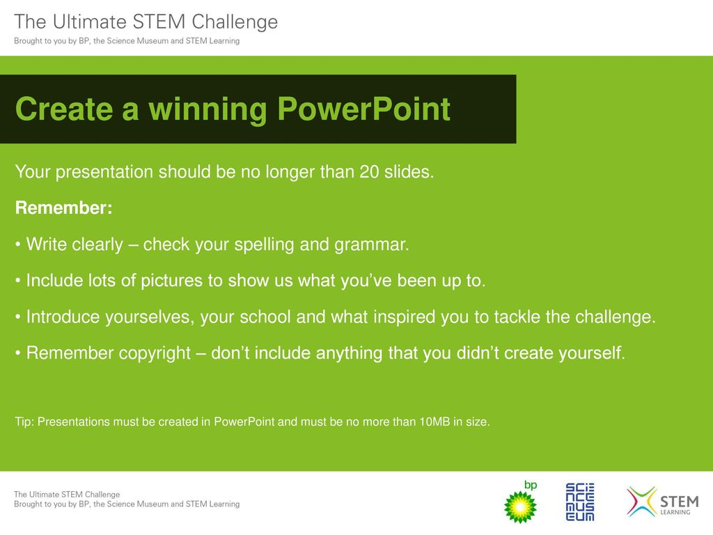 The ultimate stem challenge ppt download create a winning powerpoint ccuart Choice Image