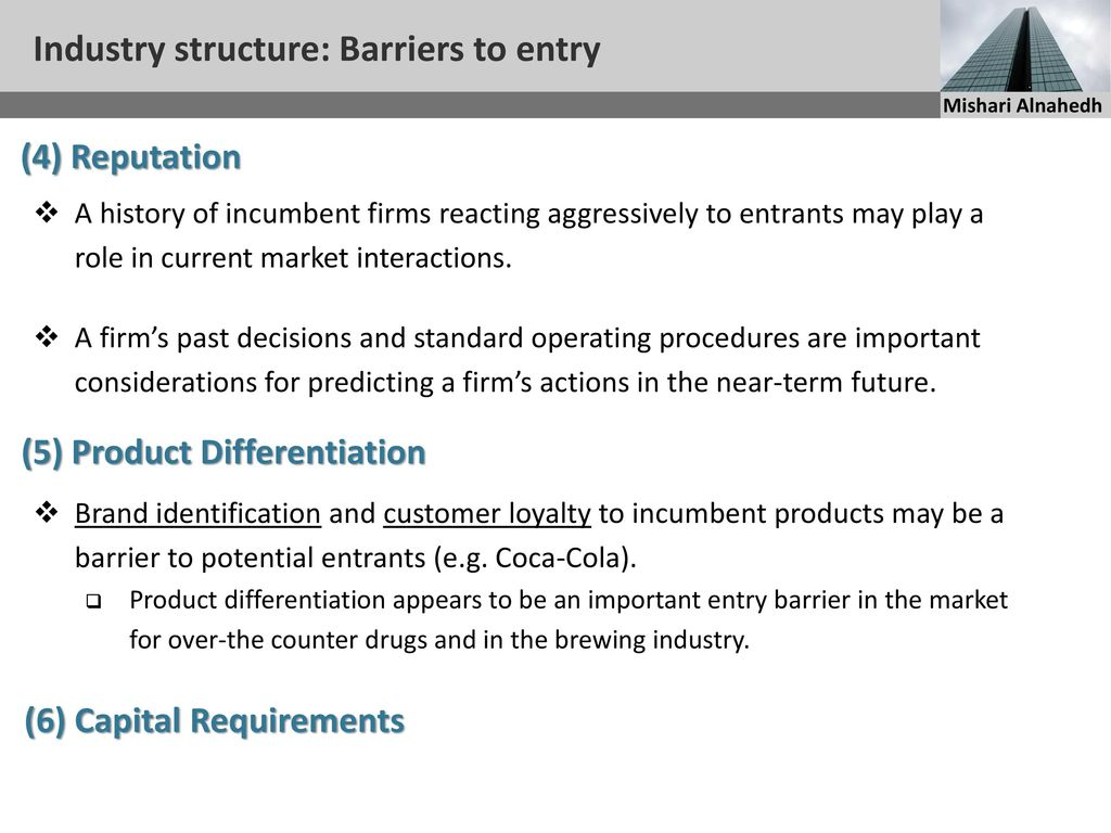 entry barriers in cosmetics industry The threat of entry: barriers to entry are the factors that need to be overcome by the new entrance if they are to compete in the industry the threat of substitutes: substitutes are products or services that offer similar benefits to industries products or services by different process.