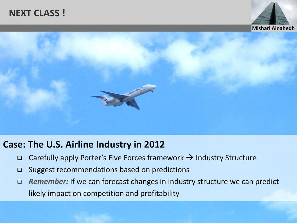 case the u s airline industry Porter's five forces analysis of the airlines industry in the united states.