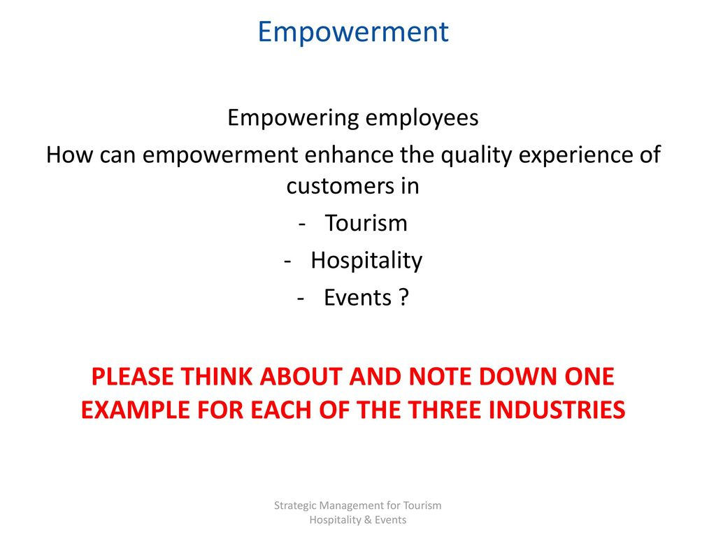 the importance of empowerment in customer Predictions from a service recovery model regarding employee and customer responses to empowerment  the impact of employee empowerment on  importance of.