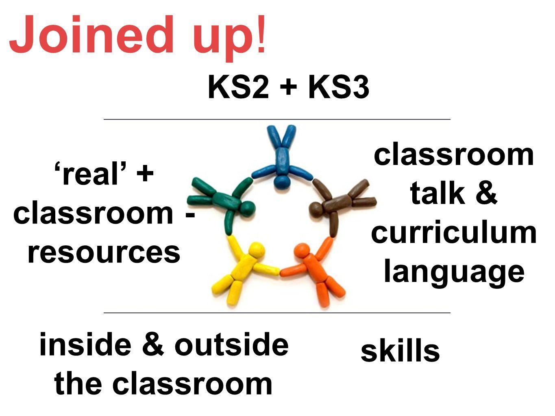 Joined up! KS2 + KS3 classroom talk & curriculum language