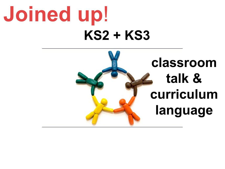 classroom talk & curriculum language