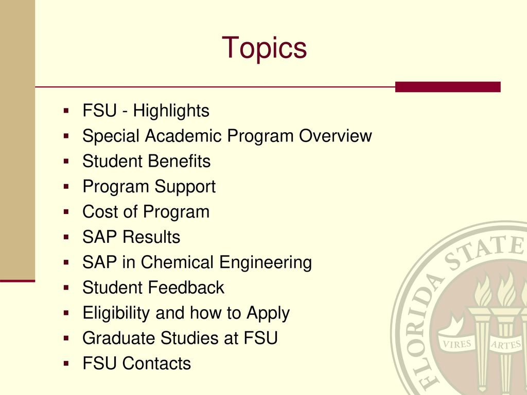 presentation about florida state