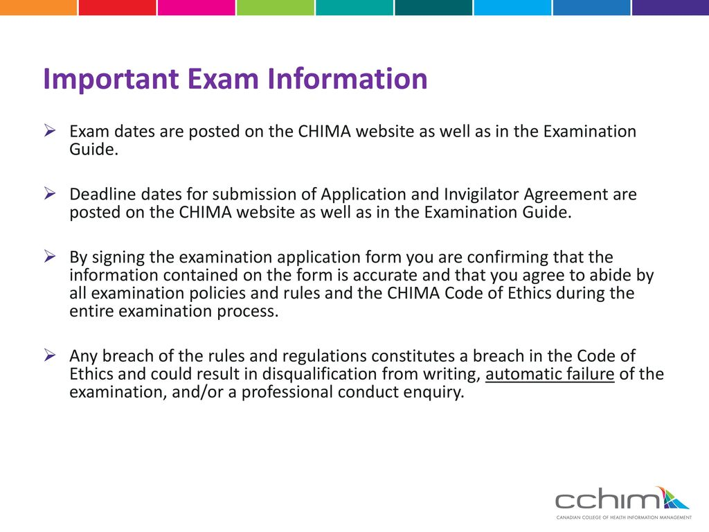 Preparing to challenge the chima national certification important exam information xflitez Choice Image