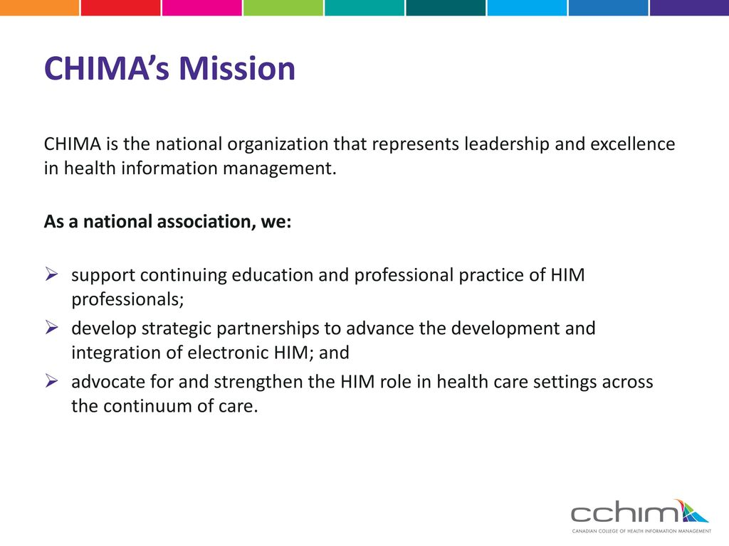 Preparing to challenge the chima national certification chimas mission chima is the national organization that represents leadership and excellence in health information management xflitez Choice Image