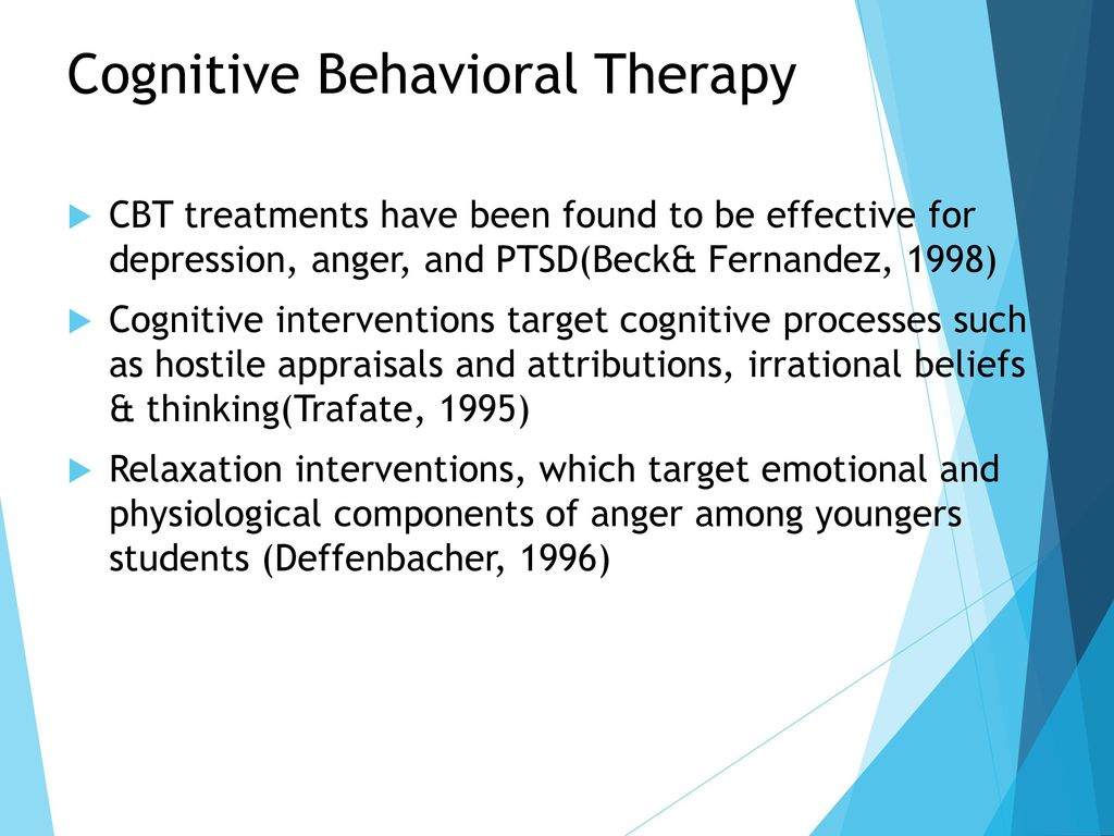 psychological therapies for depression