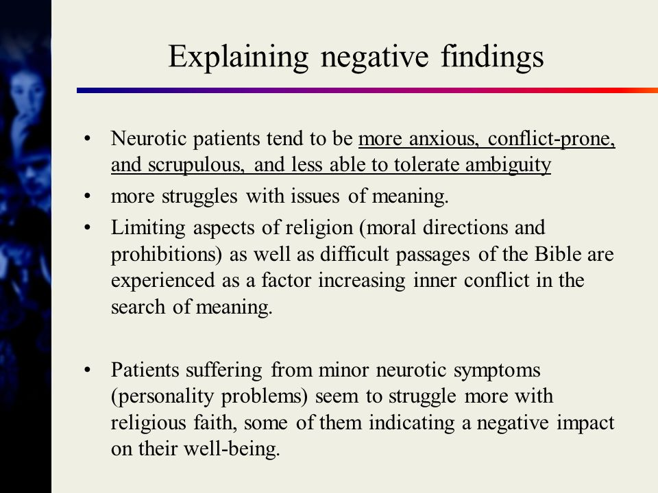 Explaining negative findings