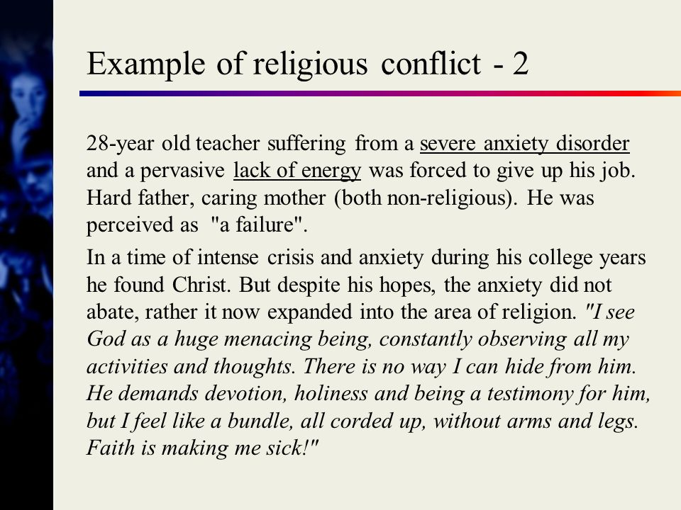 Example of religious conflict - 2
