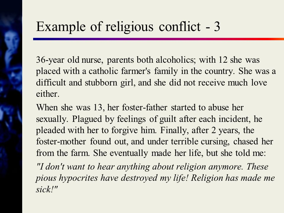 Example of religious conflict - 3