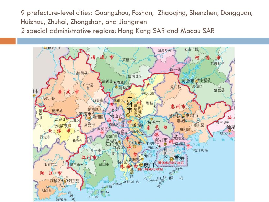 Development Plan Of GuangdongHKMacau Greater Bay Area Ppt Download - Zhaoqing map