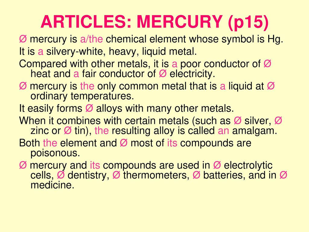 Section i units 1 5 topic materials ppt download articles mercury p15 mercury is athe chemical element whose symbol buycottarizona Gallery