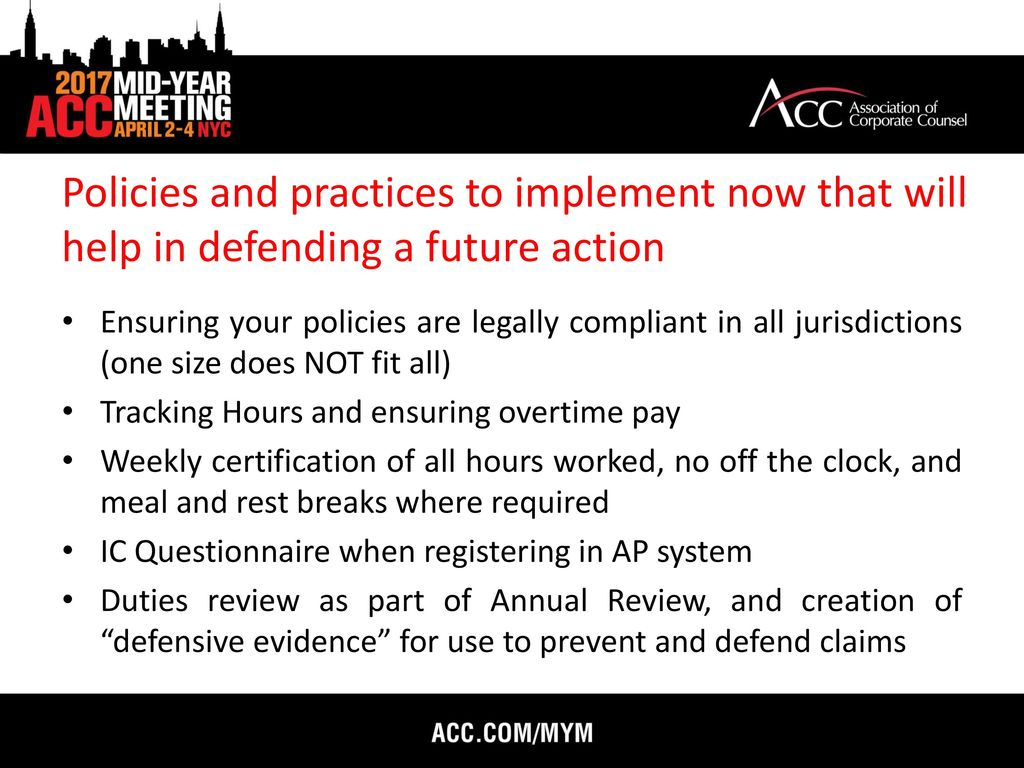 Avoiding costly wage and hour class action litigation ppt video 43 policies 1betcityfo Images