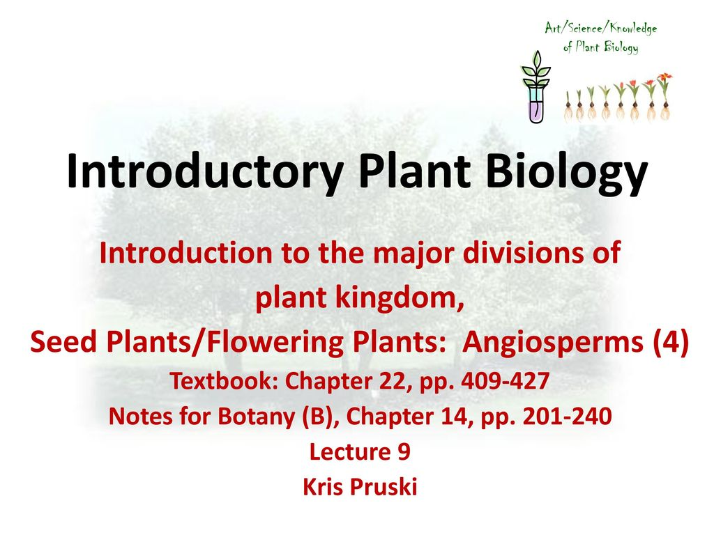 introduction to botany textbook pdf