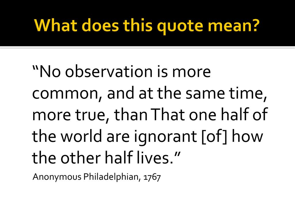 What Does This Quote Mean Dbq Poverty In America  Ppt Download