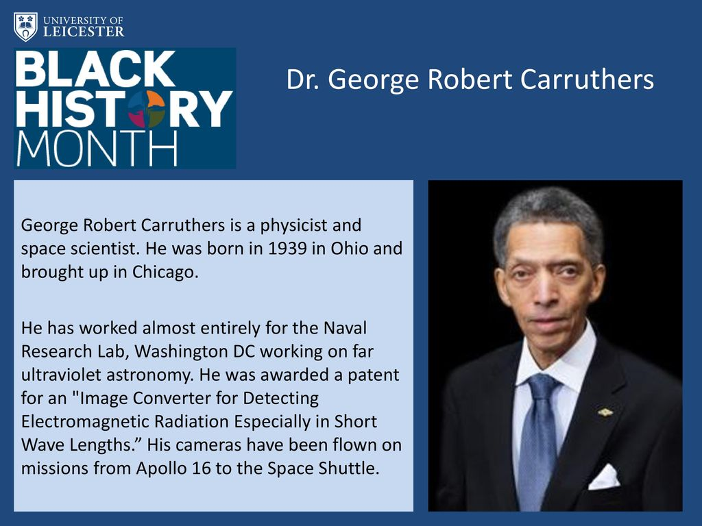 Dr. George Robert Carruthers