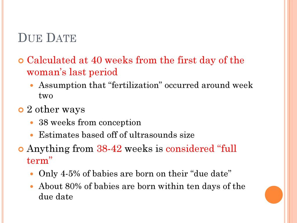 Date of conception based on due date in Melbourne