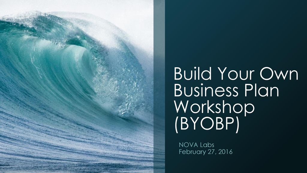 how to build your own business plan