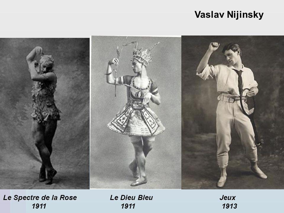 Vaslav Nijinsky Le Spectre de la Rose Le Dieu Bleu Jeux.