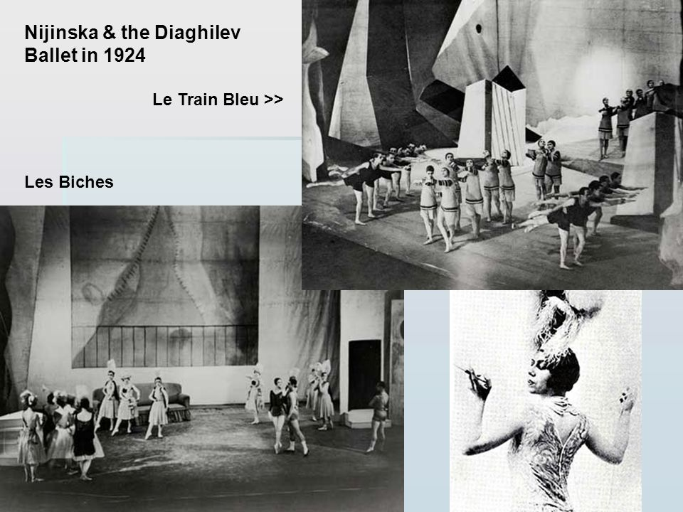 Nijinska & the Diaghilev Ballet in 1924
