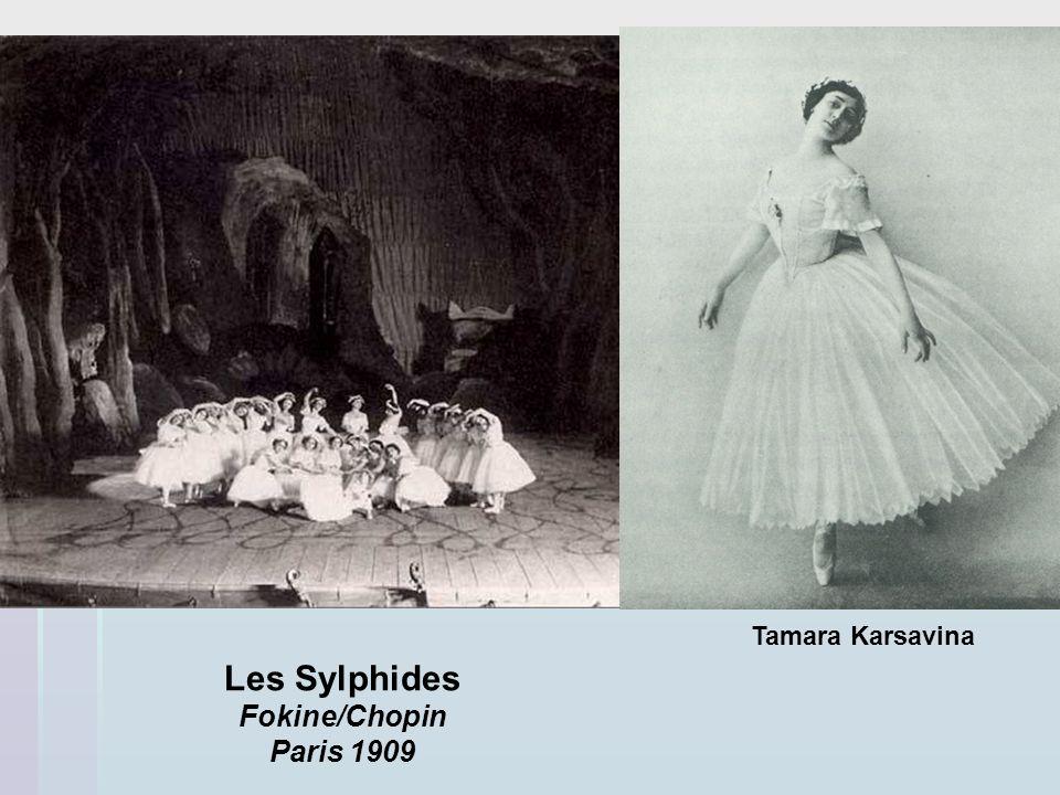 Tamara Karsavina Les Sylphides Fokine/Chopin Paris 1909