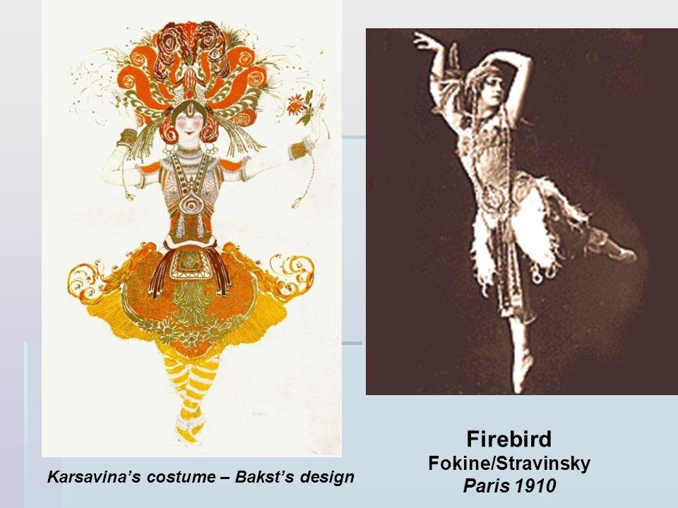 Firebird Fokine/Stravinsky Paris 1910