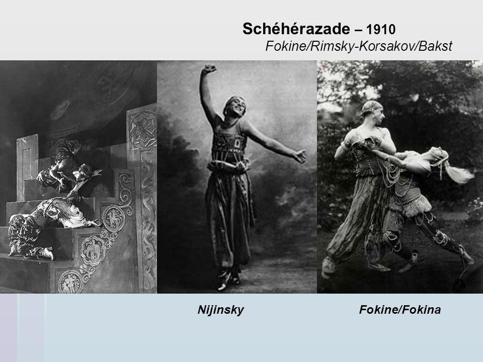 Schéhérazade – 1910 Fokine/Rimsky-Korsakov/Bakst