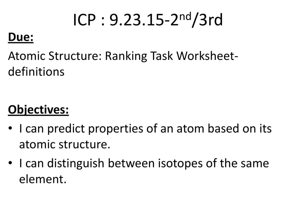 chemi block objectives ppt download