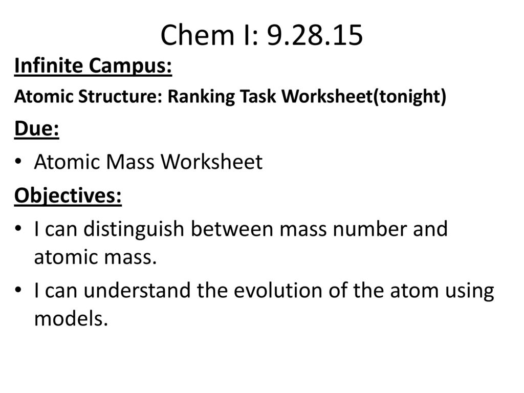 chemi block objectives ppt download unit 2 atomic theory periodic table
