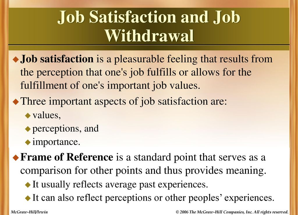 job satisfaction it's effects on an Job satisfaction and performance of school  work engagement mediated the effects of job resources on organizational  job satisfaction can also be seen as an .