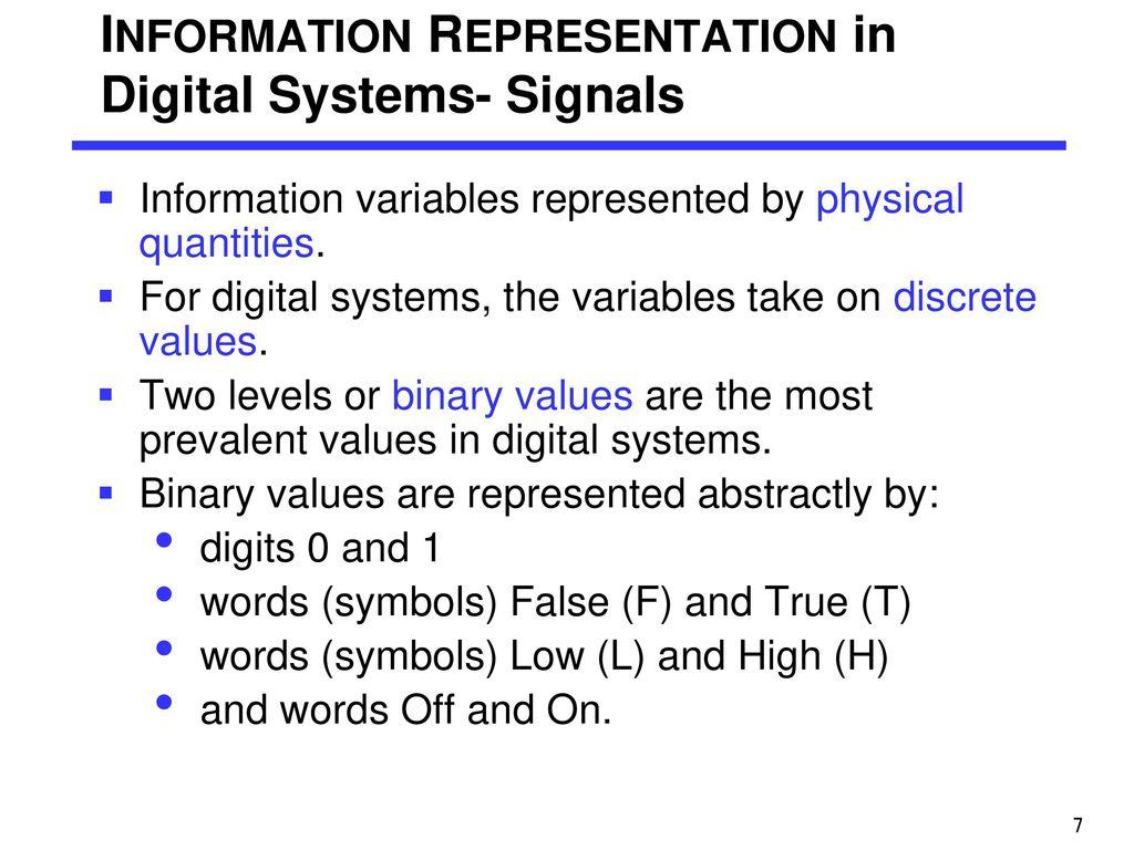 Chapter 1 digital logic design ppt download 7 information representation biocorpaavc Choice Image