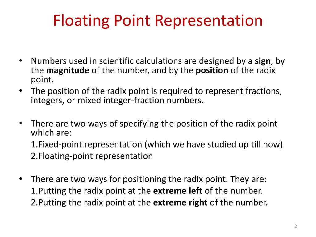 worksheet Representation Of Integers fundamentals of computer science ppt download floating point representation