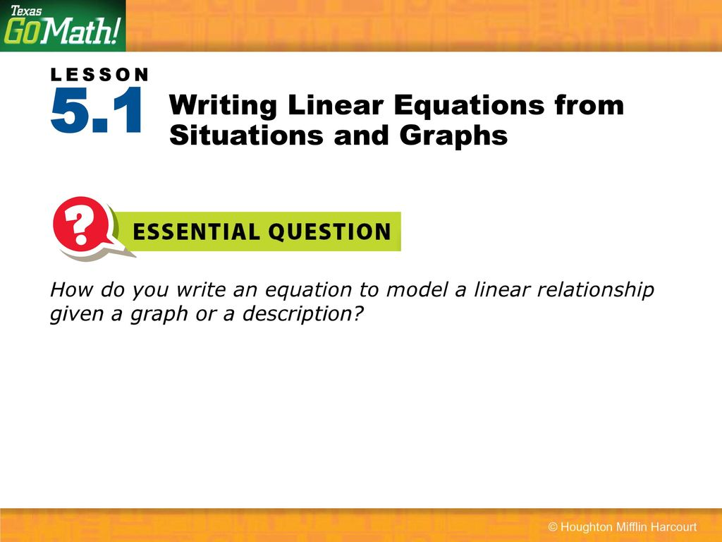 worksheet Writing Linear Equations writing linear equations from situations and graphs ppt download graphs