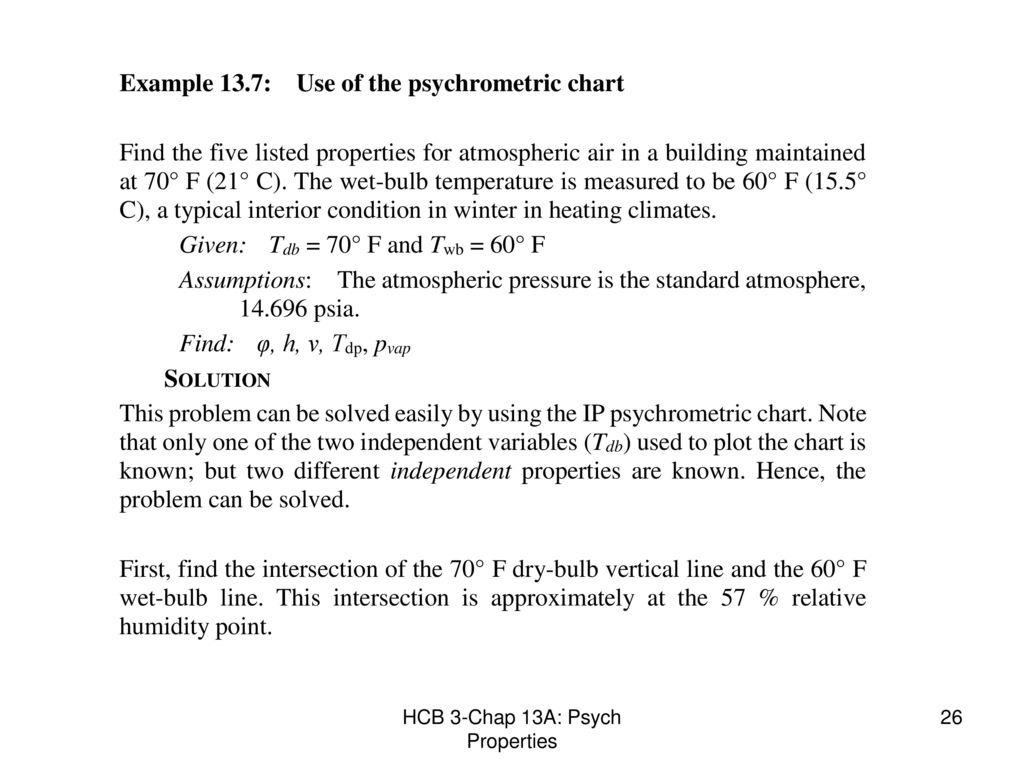 Chapter 13a psychrometric properties ppt download 26 hcb 3 chap 13a psych properties geenschuldenfo Choice Image