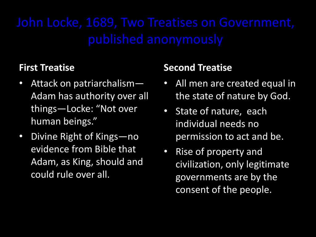 an analysis of right to private property in second treatise of government by john locke While the second treatise of government provides locke's in discussing the origin of private property locke begins by john, 1956, john locke and.