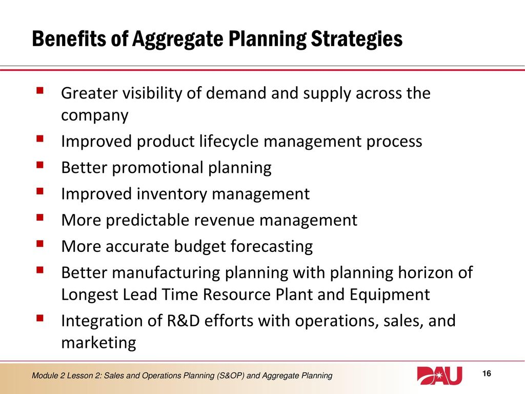aggregate sales and operations planning The production plan is the result of the aggregate planning process two  approaches to aggregate planning exist-production planning and sales and  operations.