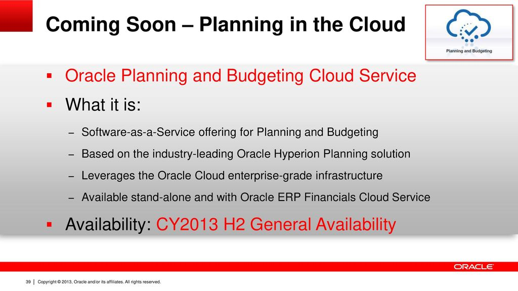 Introduction to oracle hyperion enterprise planning for Oracle enterprise planning and budgeting cloud service documentation