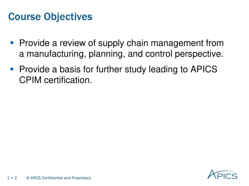 Basics of supply chain management ppt download 2 course objectives xflitez Gallery