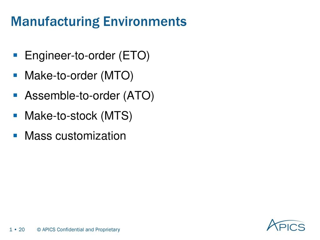 Basics of supply chain management ppt download 20 manufacturing environments xflitez Gallery