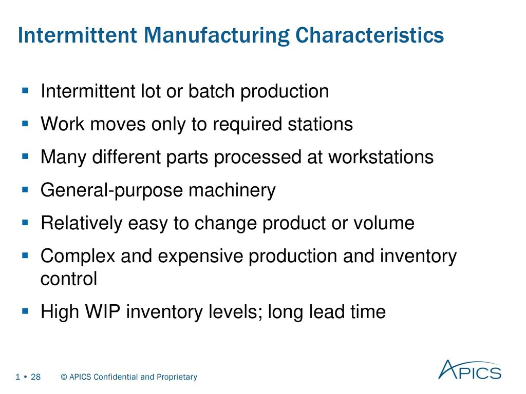 Basics of supply chain management ppt download 28 intermittent manufacturing characteristics xflitez Gallery