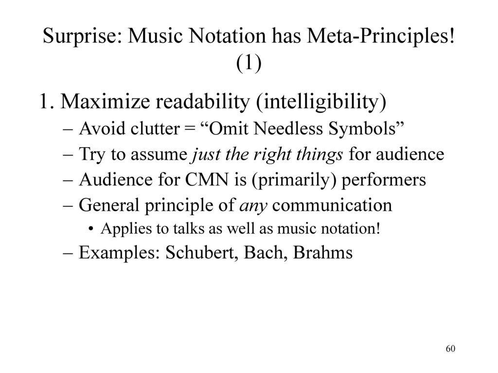 Representation of musical information ppt download surprise music notation has meta principles 1 biocorpaavc Gallery