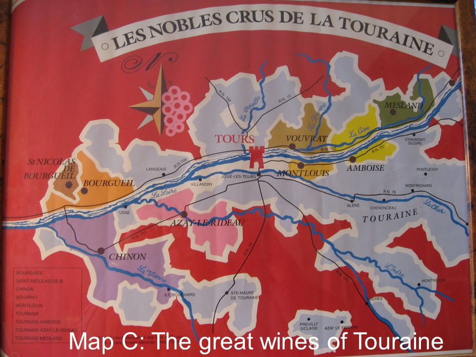 Map C: The great wines of Touraine