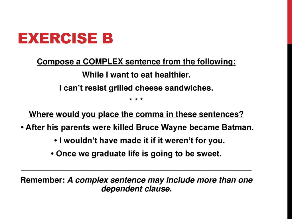 how to use comma in a sentence